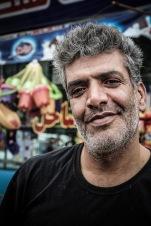 Kioskverkäufer am Kaspischen Meer