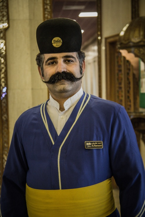 Portier vom Luxushotel Abbasi in Isfahan